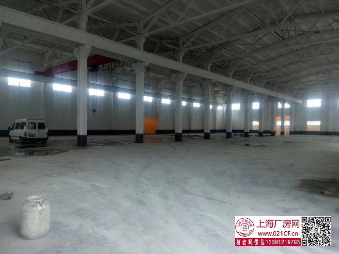 G1702 奉贤青村工业园区单层带行车4700平方米厂房出租 可分割