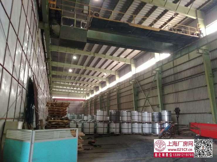 G1764  宝山杨行工业区 一房东 带行车1300平单层厂房仓库出租 近地铁