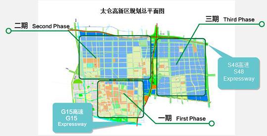 太仓高新区规划总平面图