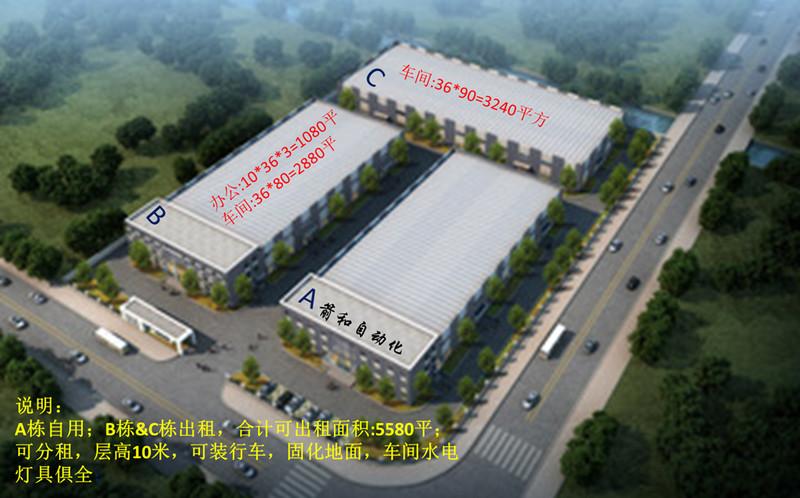 A8385 江苏省启东市滨海高新技术开发区海鹰路2号 6600平火车头式单层可装行车厂房 可分割出租