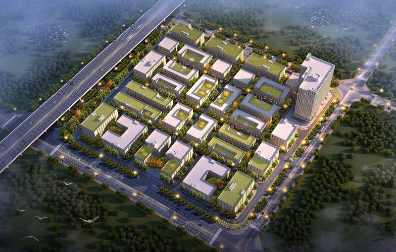中维西安环保产业园 西安未央区地铁边上的研发厂房 500平起招商出售 4层5层厂房
